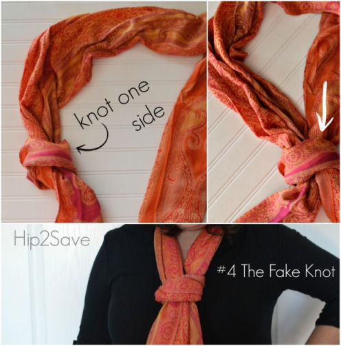 The Fake Knot Scarf Hip2Save