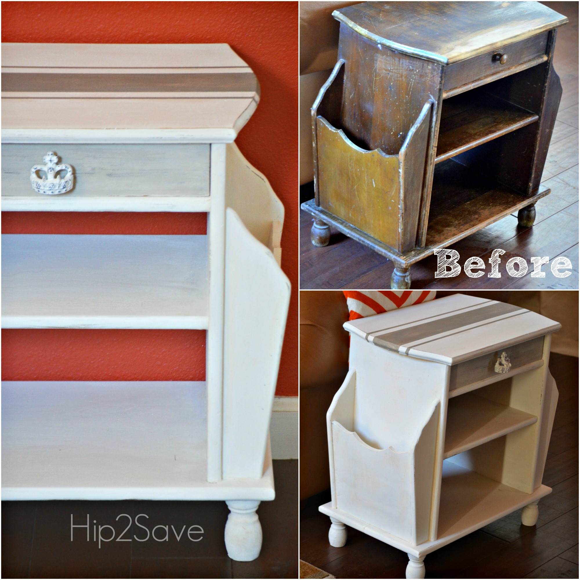 Thrift Store Side Table Makeover 2 Hip2Save
