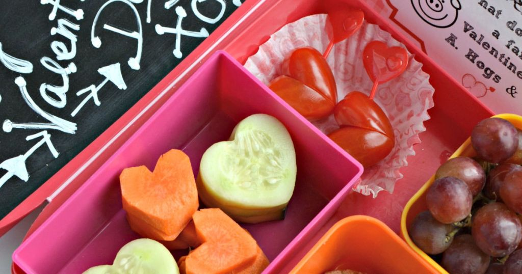 valentine's day inspired lunch for kids