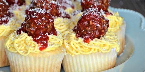 Spaghetti and Meatballs Cupcakes (Fun April Fool's Day Dessert Idea)
