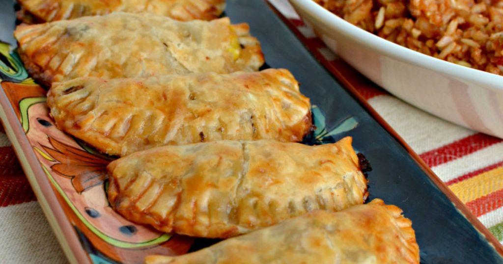 Black Bean Baked Empanadas Spanish Rice Hip2save