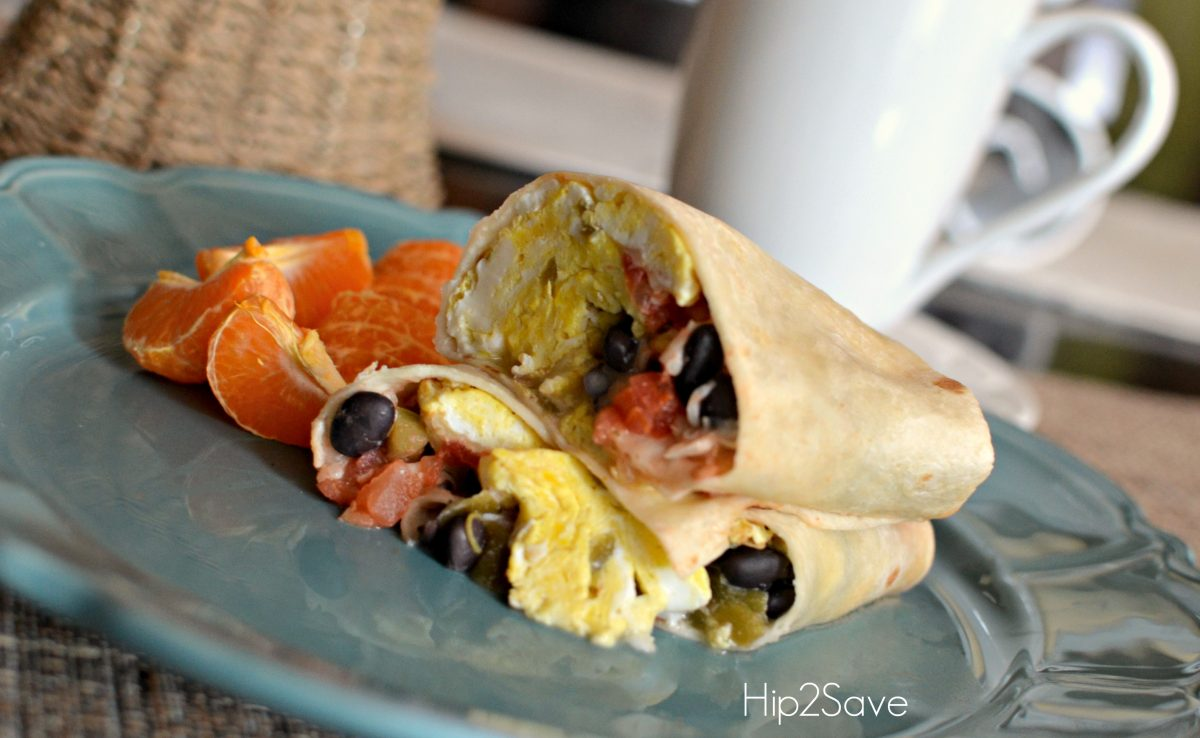 Easy Breakfast Burritos Hip2Save
