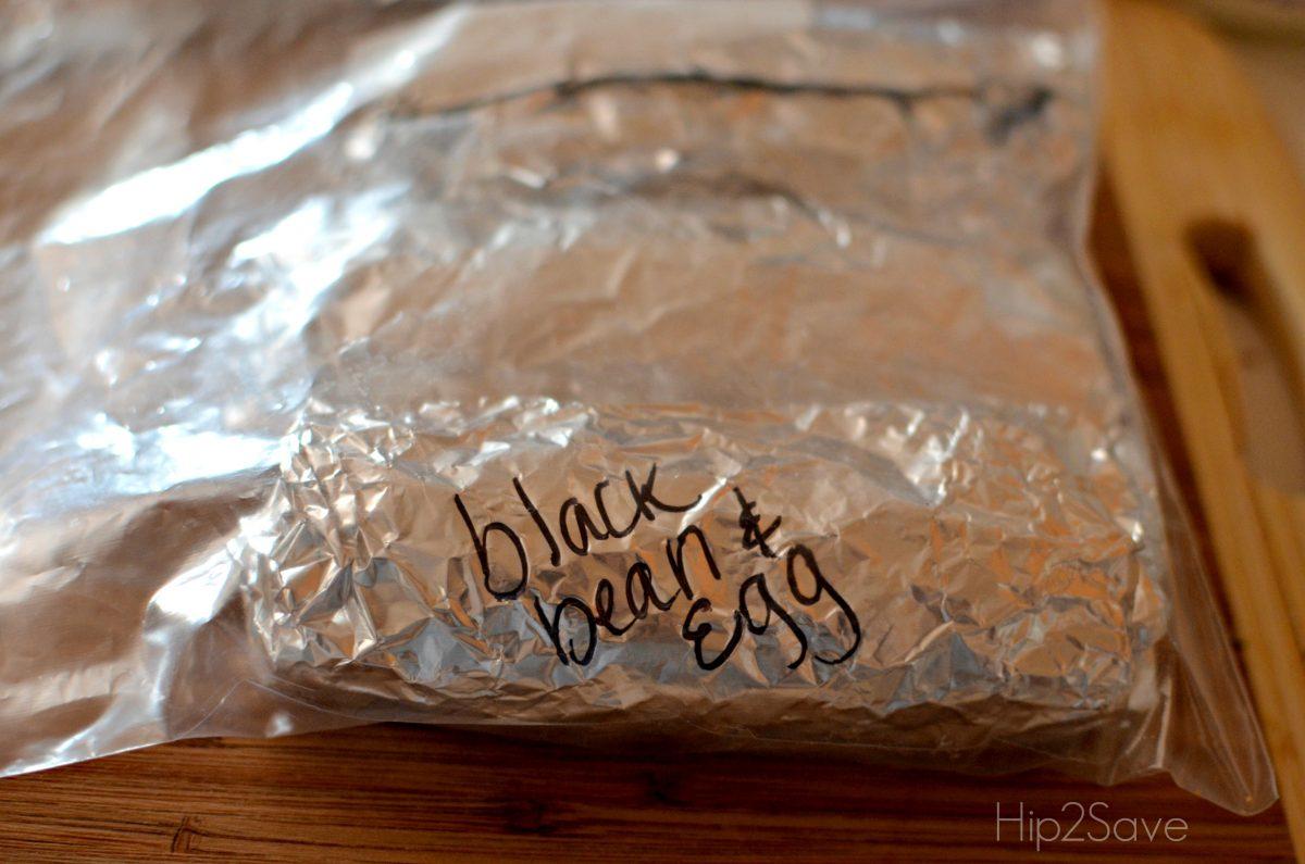 Hip2Save frozen breakfast burritos