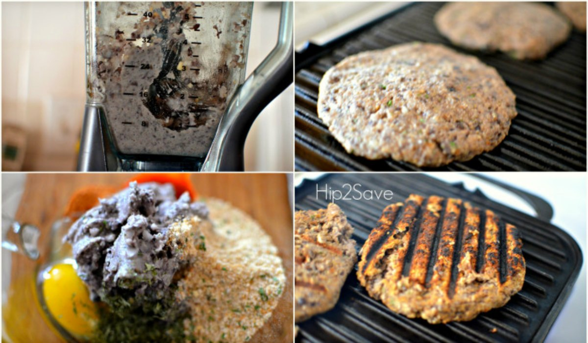 chilis inspired black bean burgers – four steps to preparing the burgers