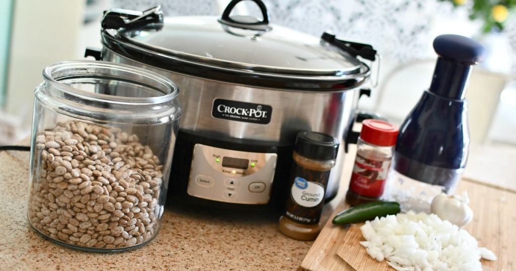 ingredients for slow cooker beans