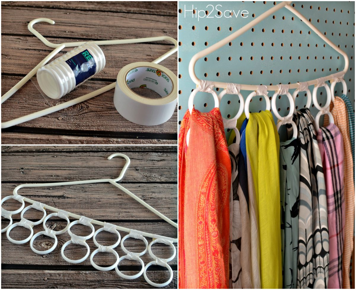 Make a Scarf Organizer Hip2Save