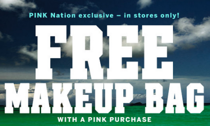 c46aae701a7b5 Victoria's Secret: FREE Makeup Bag with ANY Pink Purchase ($14.50 ...
