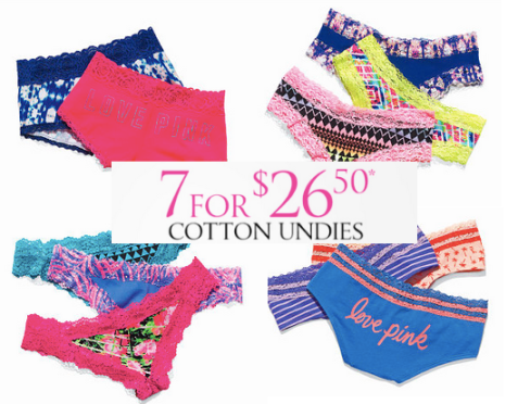 56e86b21e235 Starting today, for Angel Cardholders only (and for everyone else, starting  tomorrow, March 20th!), Victoria's Secret is offering up 7 pairs of Cotton  ...