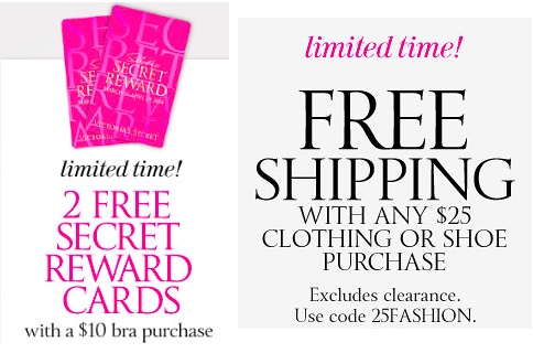 HOW TO GET FREE SHIPPING VICTORIA SECRET
