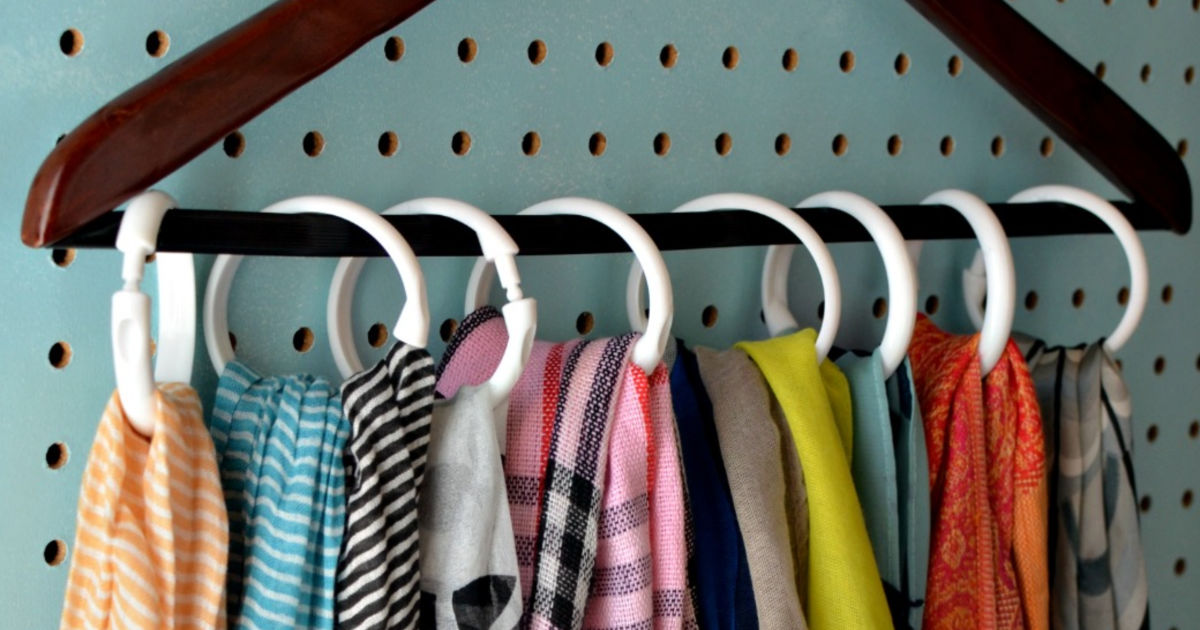 Scarf Hanger 28 Rings Multiple Purpose Holder for Closet Scarf Hanger ~ Multiple Purpose Holder for Closet