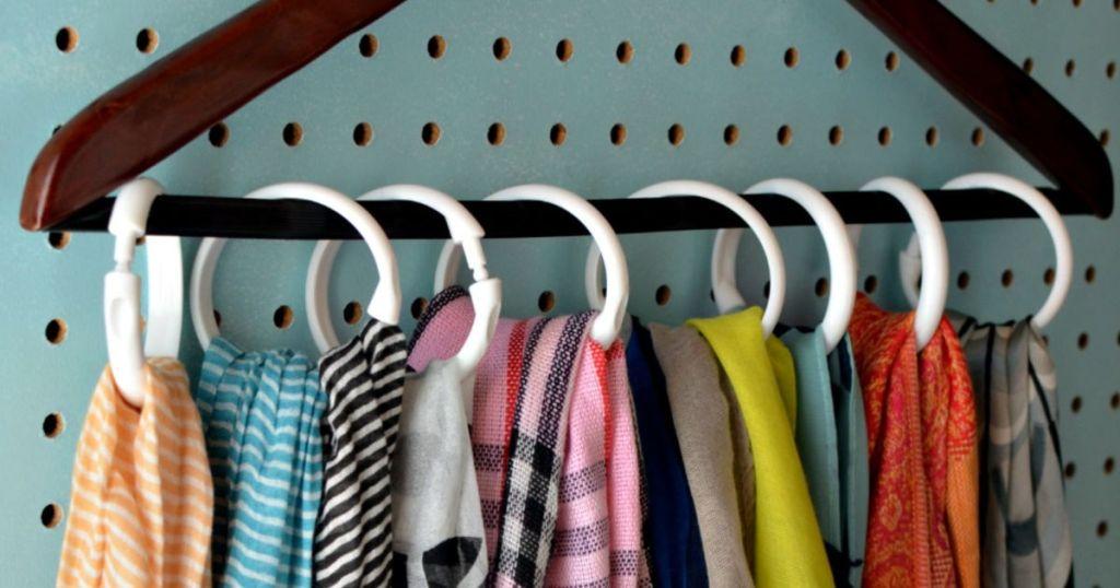 tip for organizing scarves