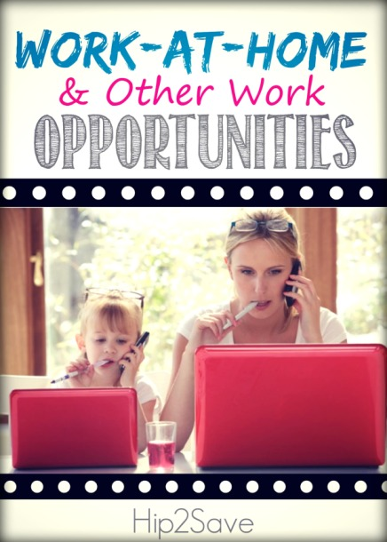 Work at Home Opportunities Hip2Save