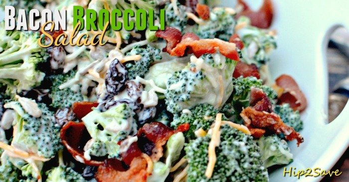Bacon broccoli salad Hip2Save