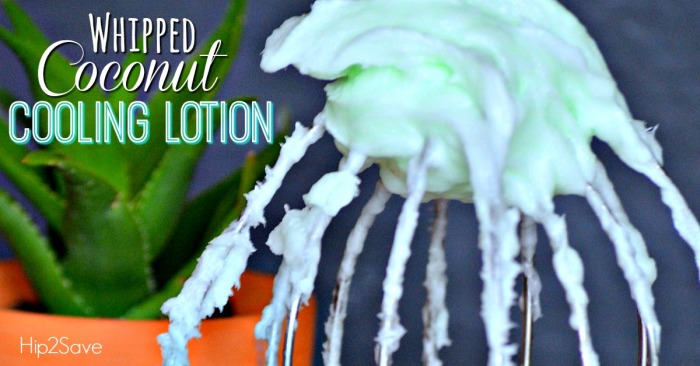 Homemade Whipped Coconut Oil Cooling Lotion
