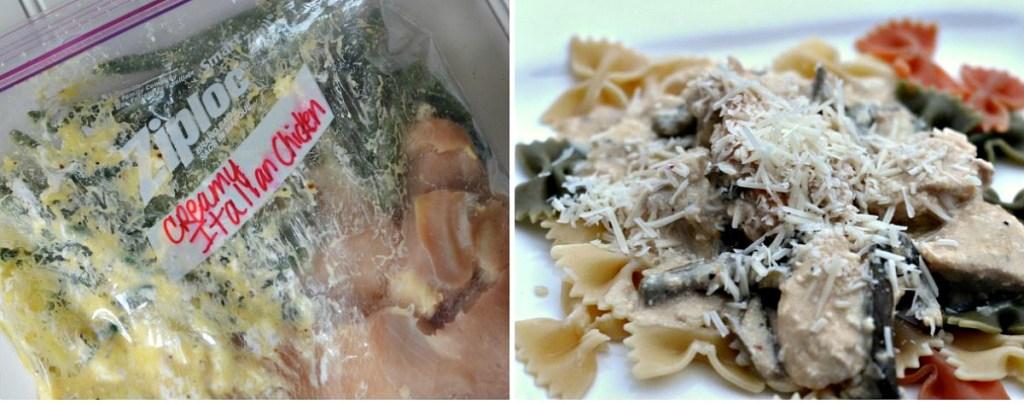 freezer bag meal creamy italian chicken