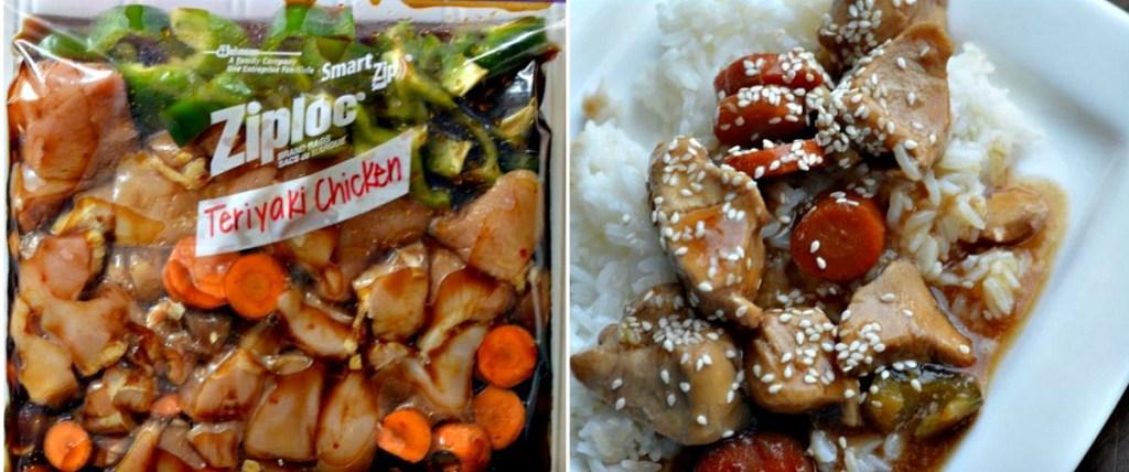 Zojirushi NS-ZCC10 Rice Cooker freezer bag with teriyaki chicken
