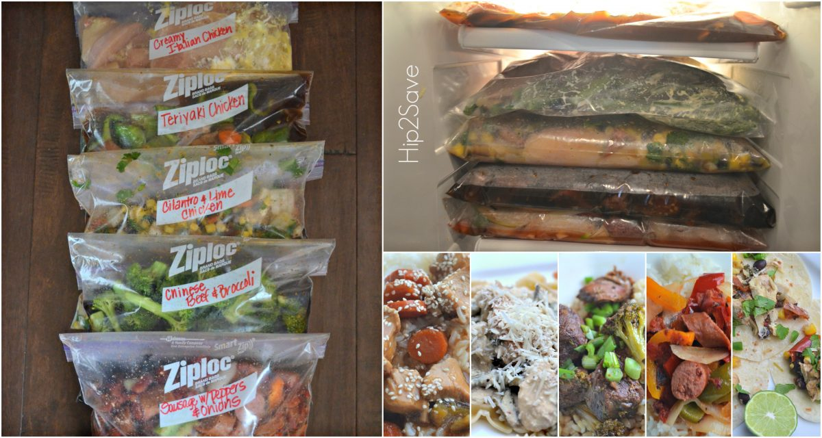 Freezer Meal Cooking with Hip2Save