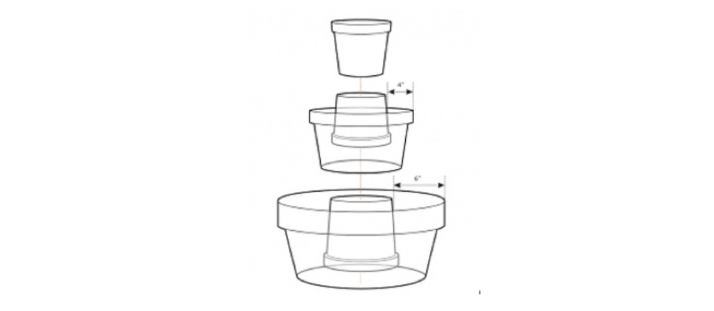 white stock photo of planter drawing
