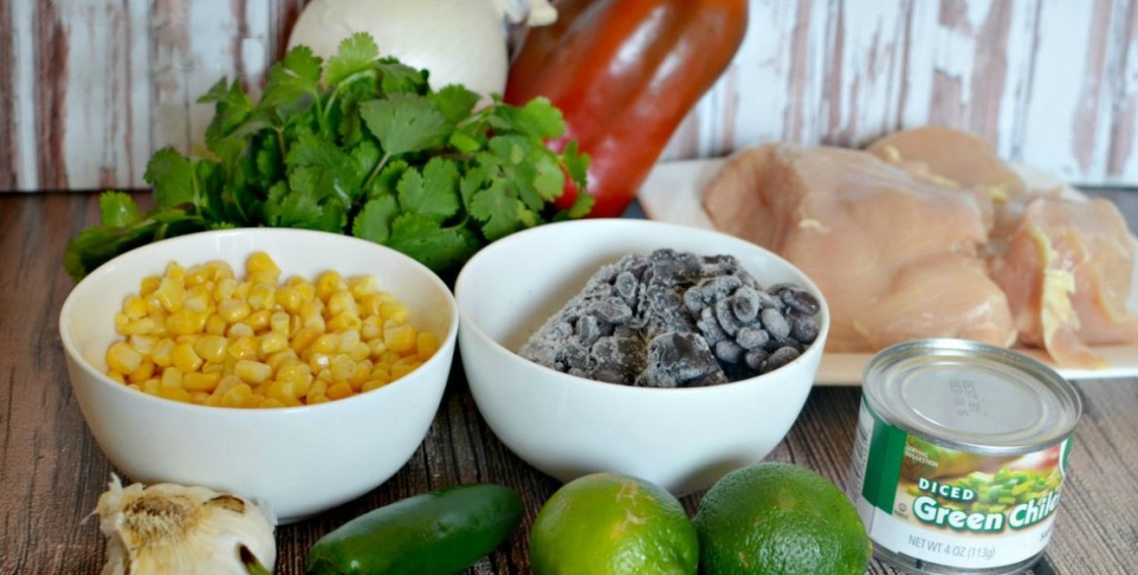 ingredients for cilantro lime chicken freezer meal