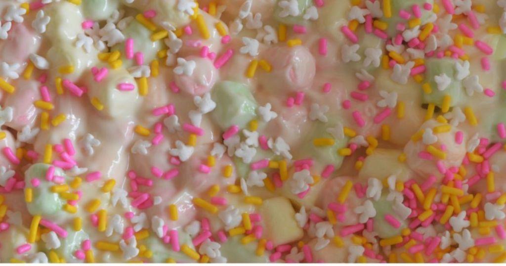 melted marshmallows for easter bark