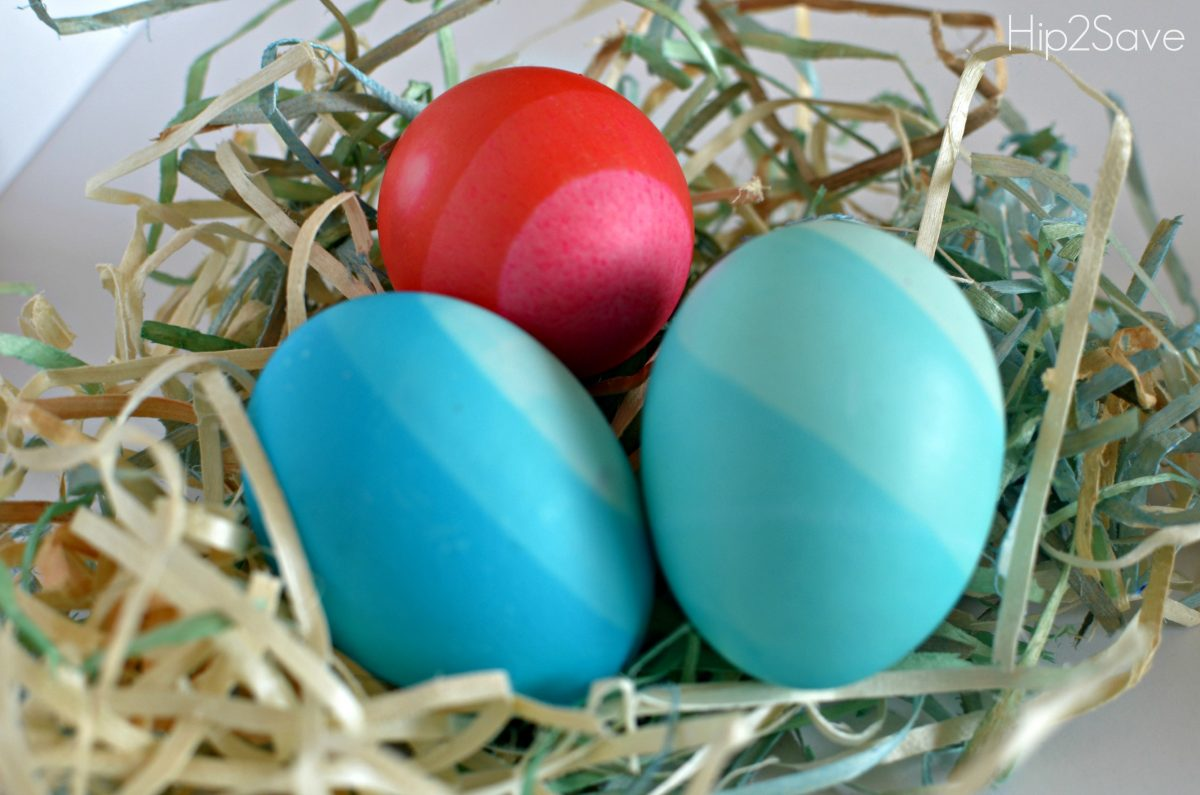 Ombre Dyed Easter Eggs Hip2Save
