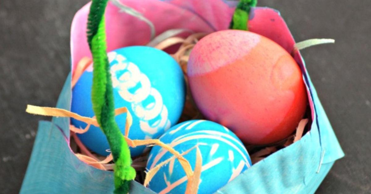 Homemade Paper Plate Easter Basket Fun Kids Craft