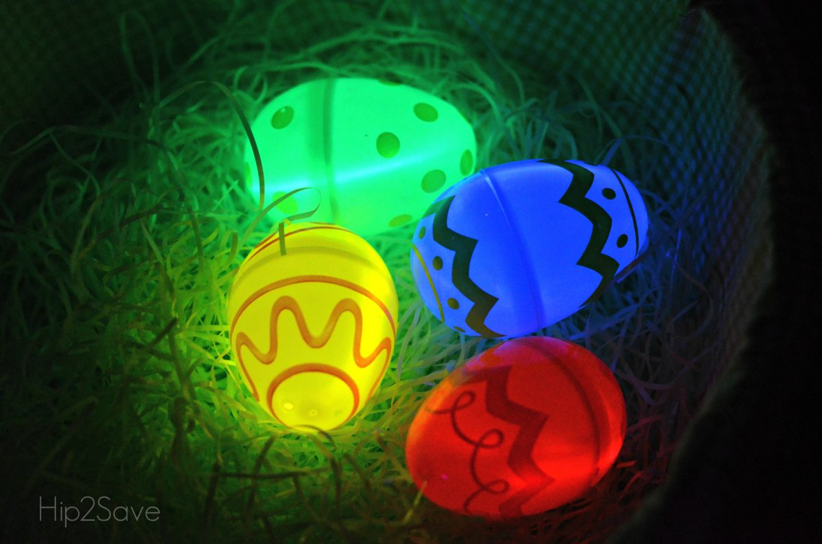 Put glow sticks in Easter Eggs Hip2Save
