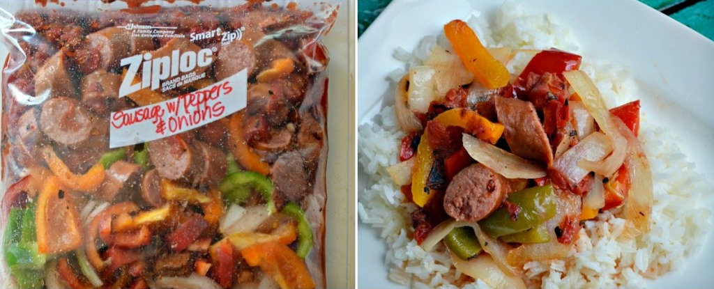 sausage with peppers freezer meal