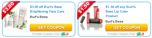 image relating to Burt's Bees Coupons Printable identified as Contemporary Burts Bees Discount coupons (Help you save Up in direction of $4.50 Off) + Long term