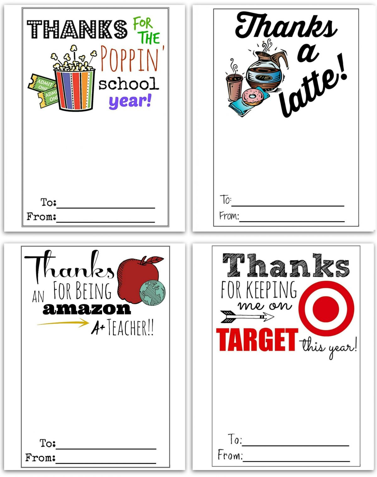 picture regarding Teachers Appreciation Cards Printable identified as Cost-free Printable Reward Card Holders for Instructor Items - Hip2Conserve