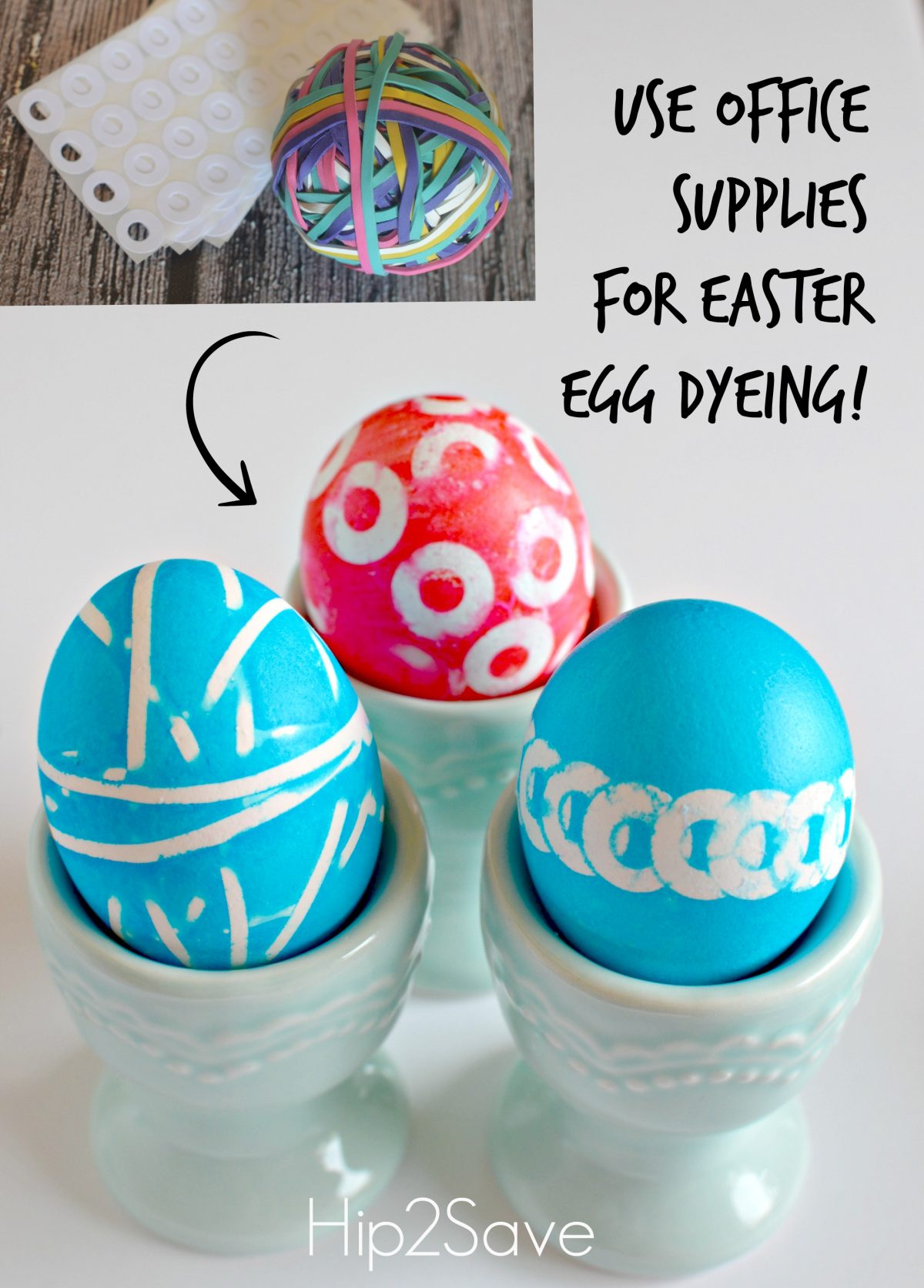 Use Office Supplies for Easter Egg Dying Hip2Save
