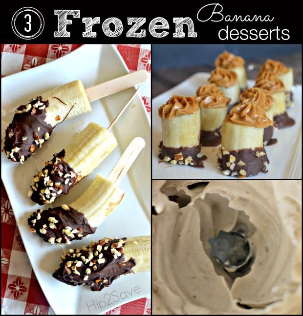 3 Easy Frozen Banana Desserts