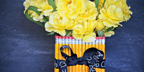 Easy Pencil Vase (Teacher Appreciation Gift)