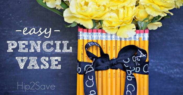 Easy Pencil Vase (Teacher Appreciation Gift)
