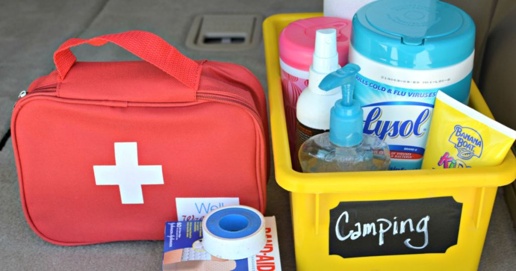 first aid bag ideas for camping