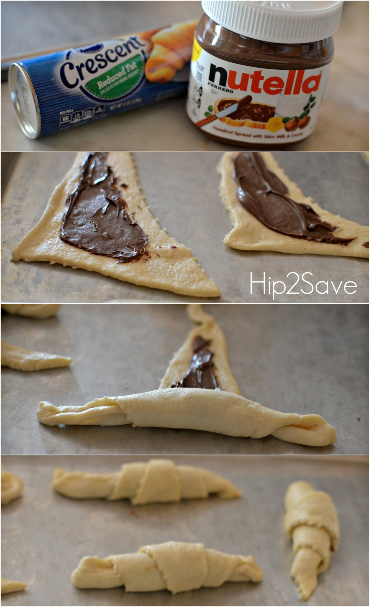 nutella rolls ingredients and steps to make them