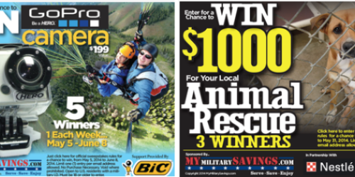 Military Giveaways: Enter to Win GoPro Camera + More (+ May Commissary Deals & New Coupon Page)