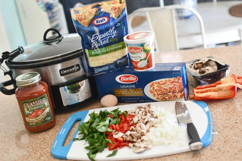 slow cooker lasagna ingredients