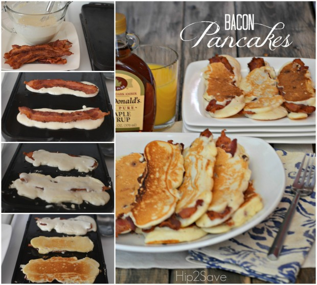 Bacon Pancakes Breakfast Idea Hip2Save