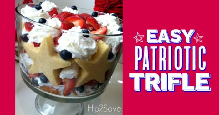 Easy Patriotic Trifle Hip2Save