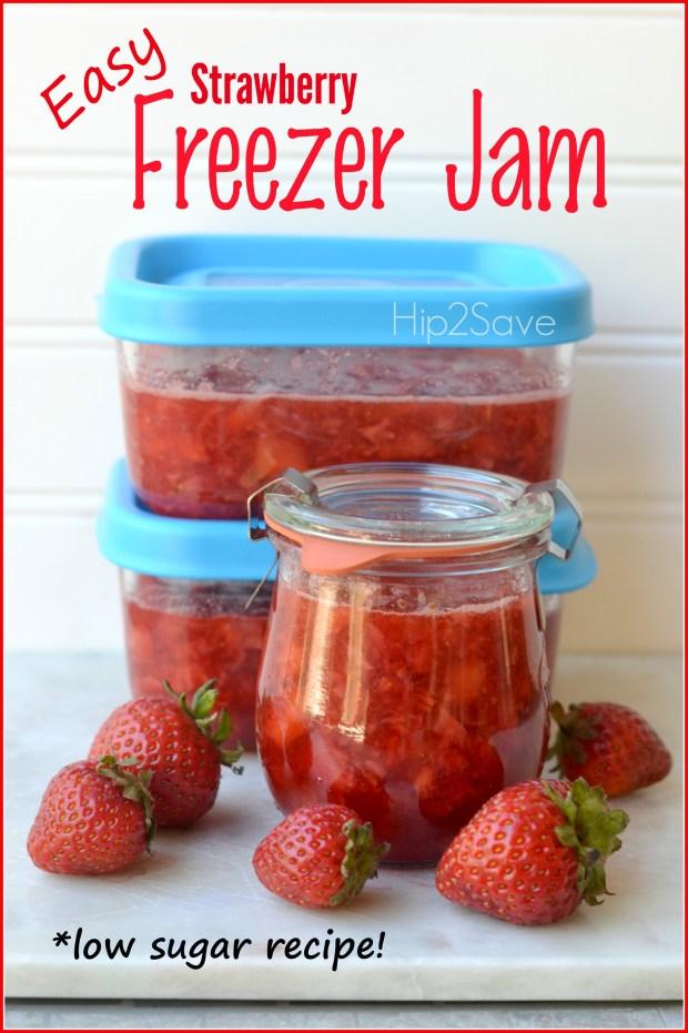 Strawberry Freezer Jam (No Canning Required)