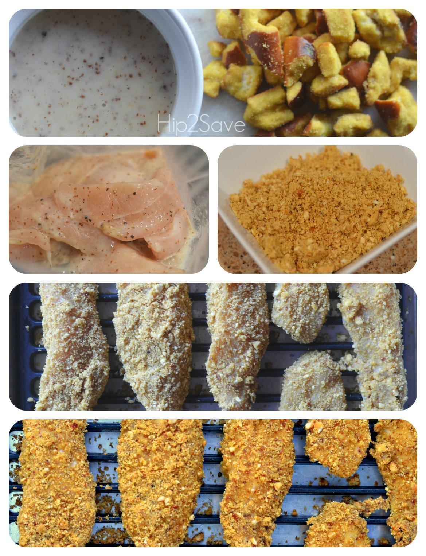 How to make baked honey mustard pretzel chicken tenders Hip2Save