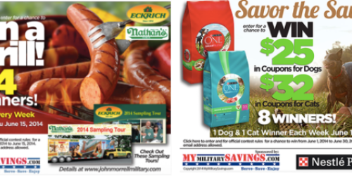 Military Giveaways: Enter to Win Outdoor Grill + More (+ June Commissary Deals & New Coupon Page)