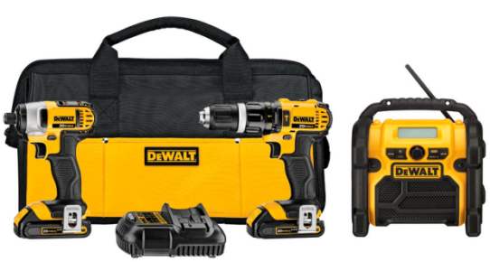 Amazon: DEWALT 3 Tool Combo Kit $259 Shipped Today Only