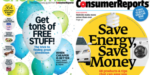 One Year Subscription to BOTH ShopSmart Magazine AND Consumer Reports Magazine Only $33.95