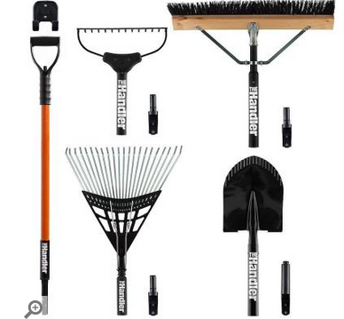 Home Depot The Handler System 5 Piece Lawn And Garden Tool Set W