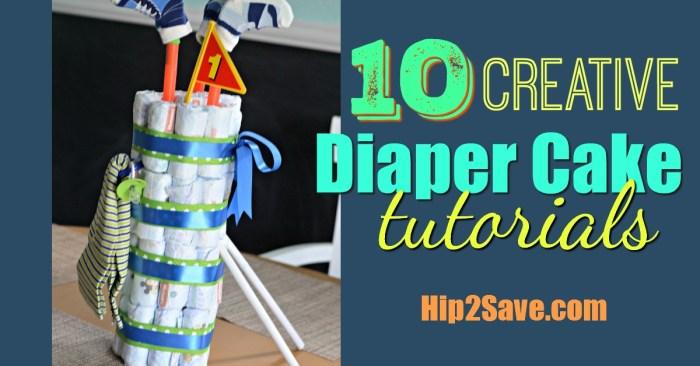 10 Diaper Cake Tutorials (Fun Baby Shower Gift)