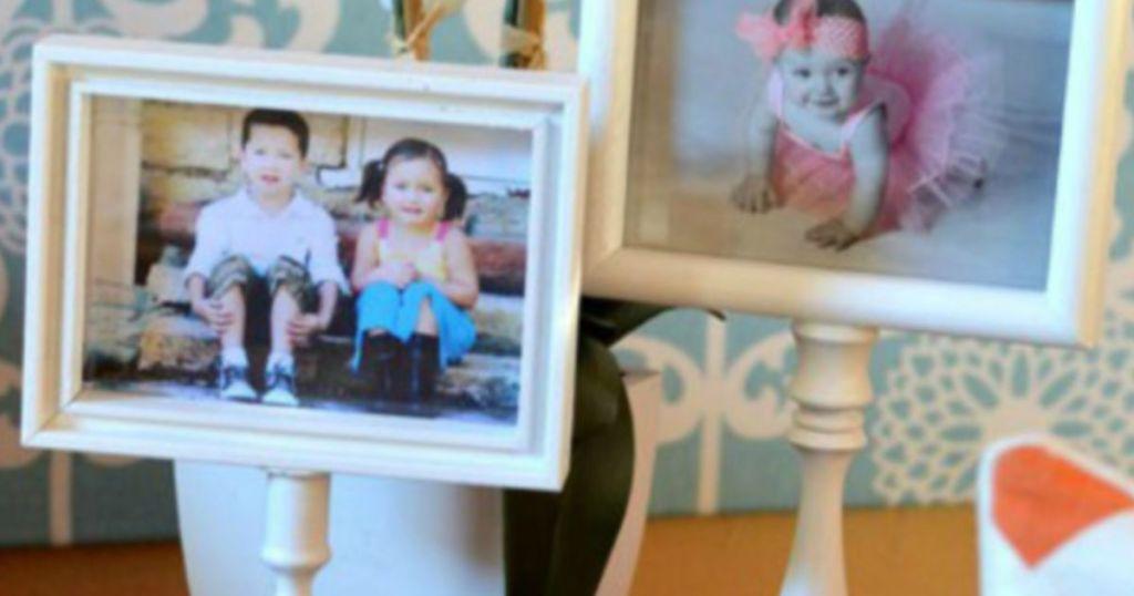 DIY pedestal photo frame