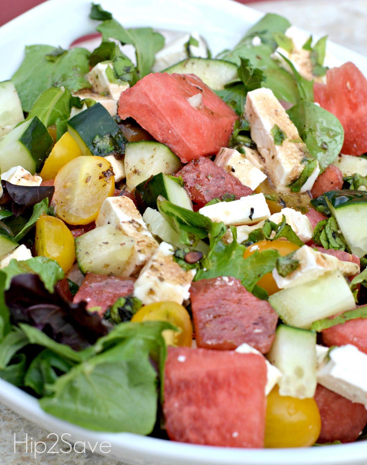 Easy Summer watermelon Salad