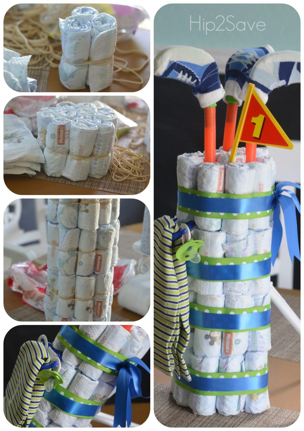 Golf Bag Diaper Cake Hip2Save
